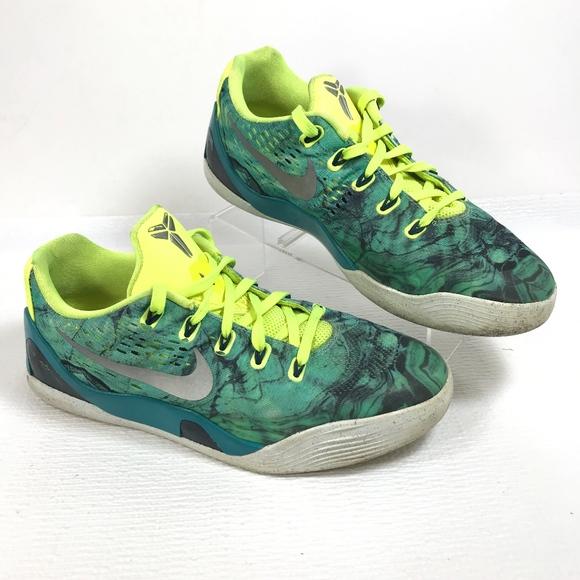 new product 1a0b4 19a50 RARE🔥 Nike Kobe IX EM Easter Turbo Green Shoes